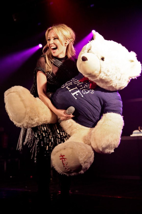 Kylie and the happiest bear in the world