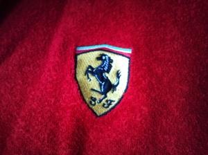 Ferrari Dressing Gown logo...