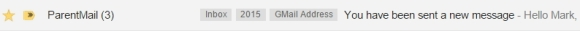 ParentMail subject line